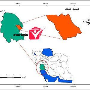 دانلود نقشه موقعیت شهرستان باغملک