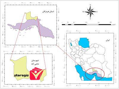 دانلود نقشه موقعیت شهرستان حاجی آباد