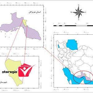 دانلود نقشه موقعیت شهرستان رودان