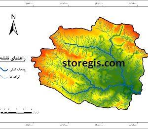 دانلود نقشه آبراهه های حوضه آبخیز نوژیان (لرستان)