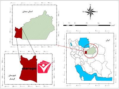 دانلود نقشه موقعیت شهرستان گرمسار