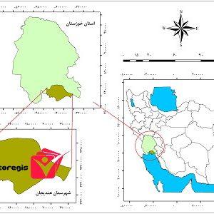 دانلود فایل موقعیت شهرستان هندیجان