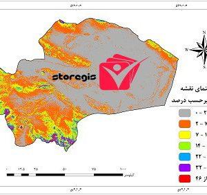 دانلود نقشه درصد شیب استان قم