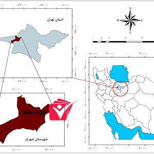 دانلود نقشه موقعیت شهرستان شهریار
