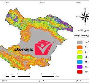 دانلود نقشه درصد شیب استان قزوین