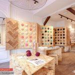 طراحی دکوراسیون مغازه فروش لباس بافتنی | پاریس فرانسه