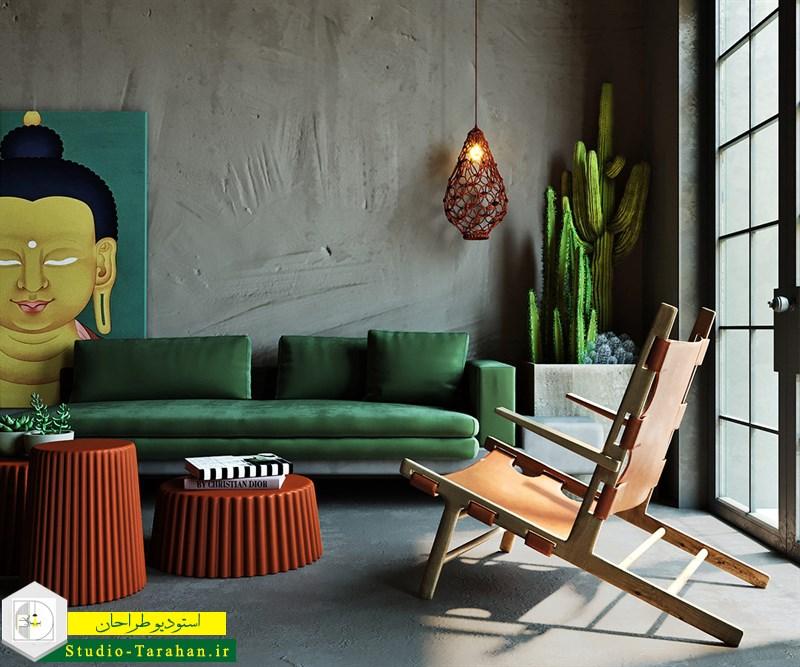 رنگ سبز در دکوراسیون داخلی