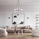 آپارتمان جذابی در سبک نئوکلاسیک + تصاویر