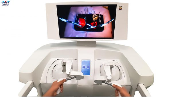 Robotic surgery in a physical environment with basic training equipment