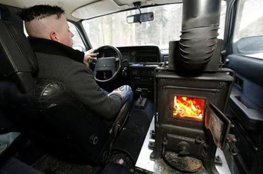 بخاری ماشین در فصل سرما